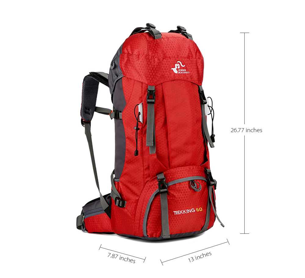 43a5e6015f16 Free Knight 60L Waterproof Climbing Hiking Backpack Rain Cover Bag 50L Camping  Mountaineering Backpack Sport Outdoor Bike Bag